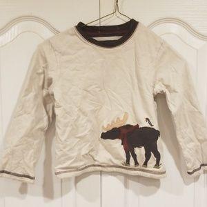 Janie and Jack Boys 4t Moose reversible shirt